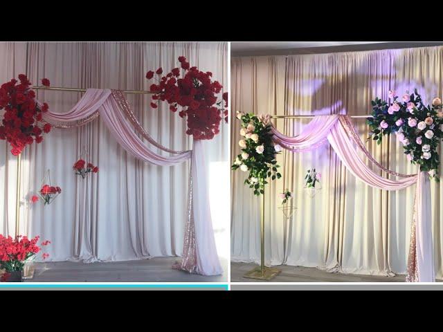 DIY Quick & Easy Floral Backdrop Diy- PVC Pipe Floral Backdrop Diy- Dollar Tree Floral Backdrop