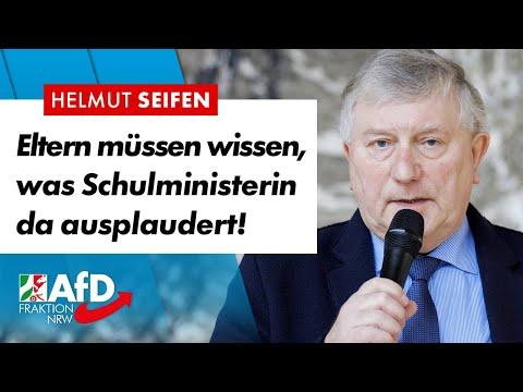 Eltern müssen wissen, was Schulministerin ausplaudert! – Helmut Seifen (AfD)