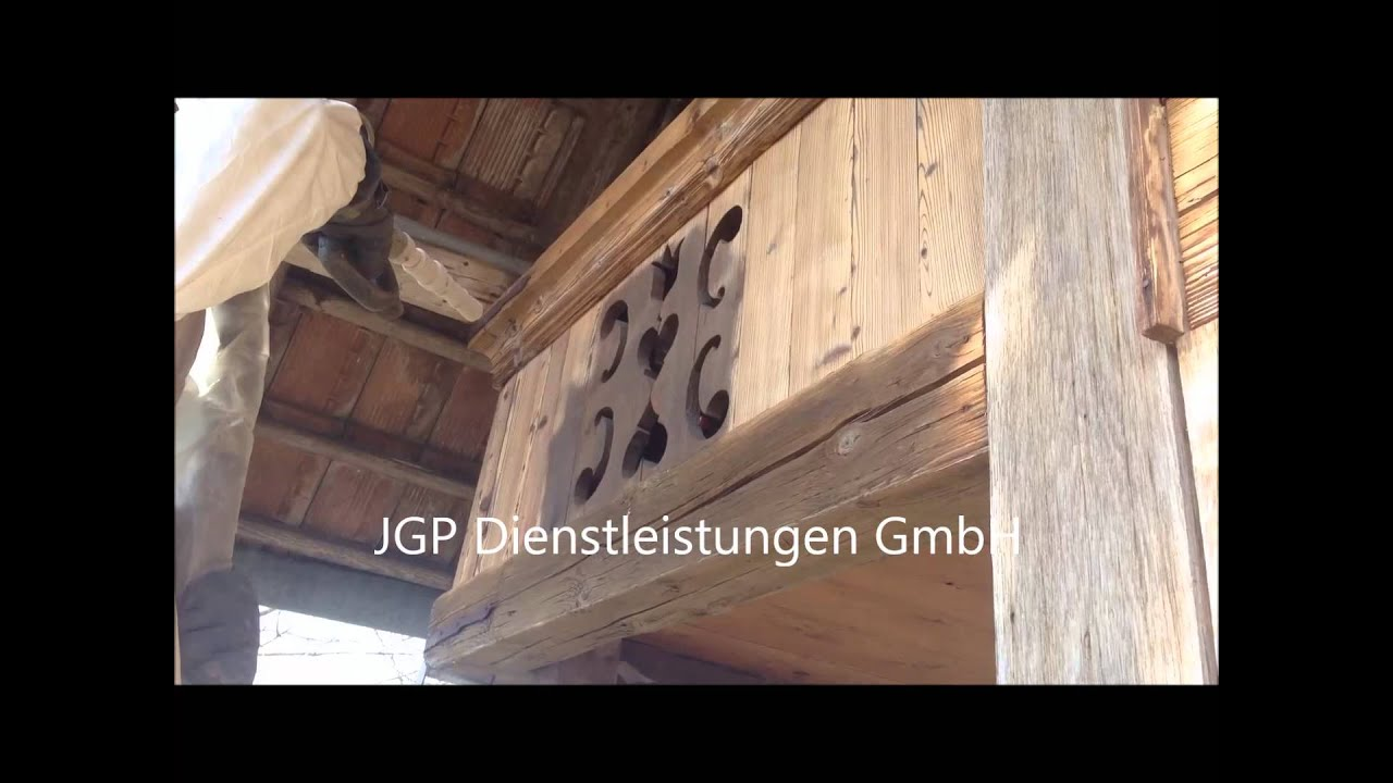 trockeneisreinigung trockeneisstrahlen farbentfernung holz chalet 2 youtube. Black Bedroom Furniture Sets. Home Design Ideas