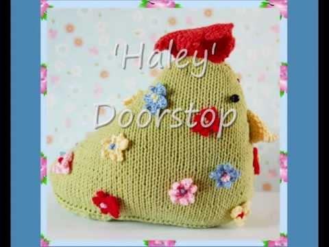 Haley Hen Country Cottage Shabby Chic Floral Doorstop Dk Yarn