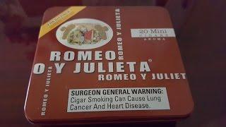 Romeo Y Julieta Mini Red cigar review + indoor smoking strategies