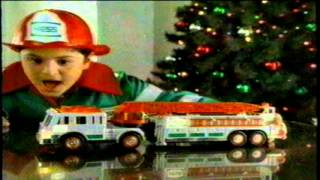 hess 2000 christmas holiday toy fire truck tv commercial
