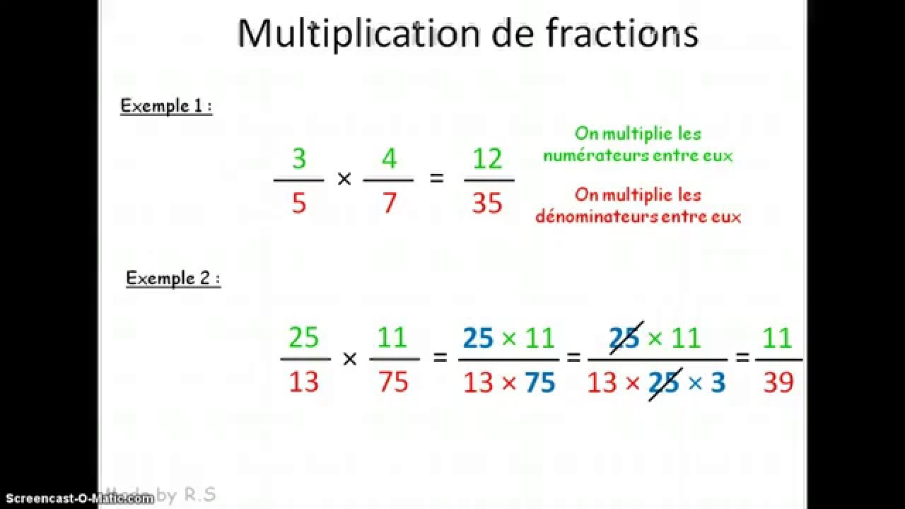 4e multiplication de fractions youtube for Multiplication de 8