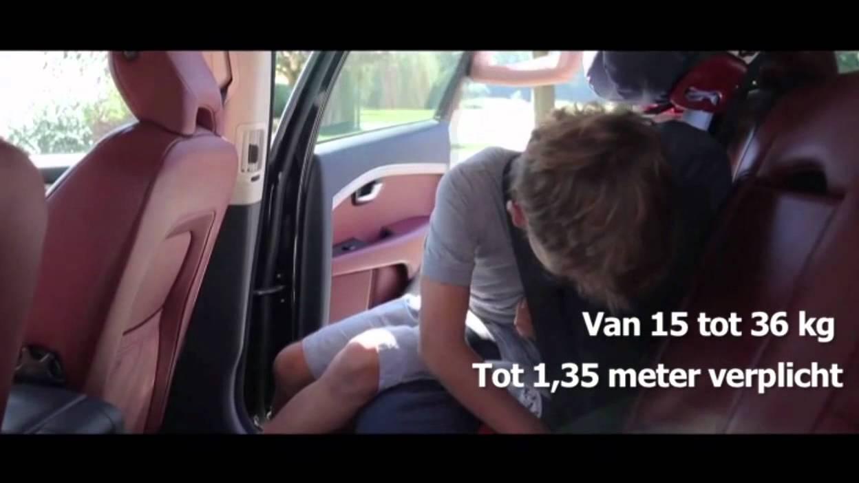 Verhogingskussen voor kinderen in de auto youtube