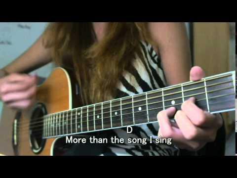 I Need You More Kim Walker Guitar Cover Youtube
