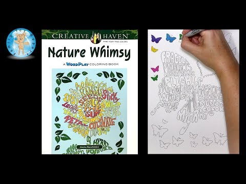 Creative Haven Nature Whimsy Coloring Book Dover Publications -- Family Toy Report