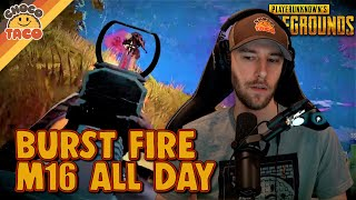 chocoTaco and WackyJacky Use Burst Fire M16s All Day - PUBG Duos Gameplay