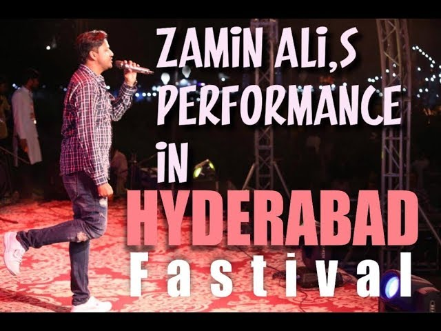 Zamin Ali Live Performance In Hyderabad Fastival Powerd By SINDH TV