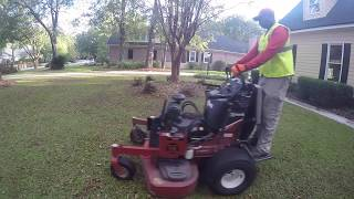 After a major storm cleanup/ a lawn care company shows you how they do it