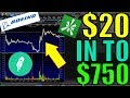 $20 to $750 In One Hour Trading Boeing Stock – Weekly Option Trading Strategy – How To Trade Options