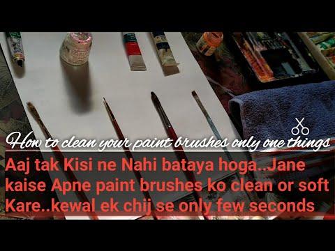 How to clean all type of painting brushes/Har Tarah k paint brushes ko Kare clean#Artistnehakiran