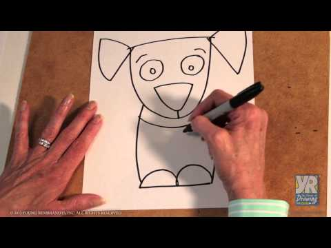 Teaching Kids How To Draw How To Draw Puppy