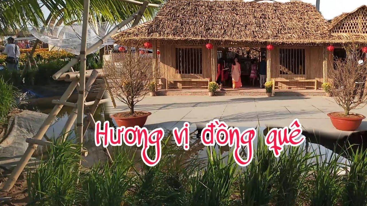 Hương Vị Đồng Quê. Nhà mái lá. Vietnamese countryside.