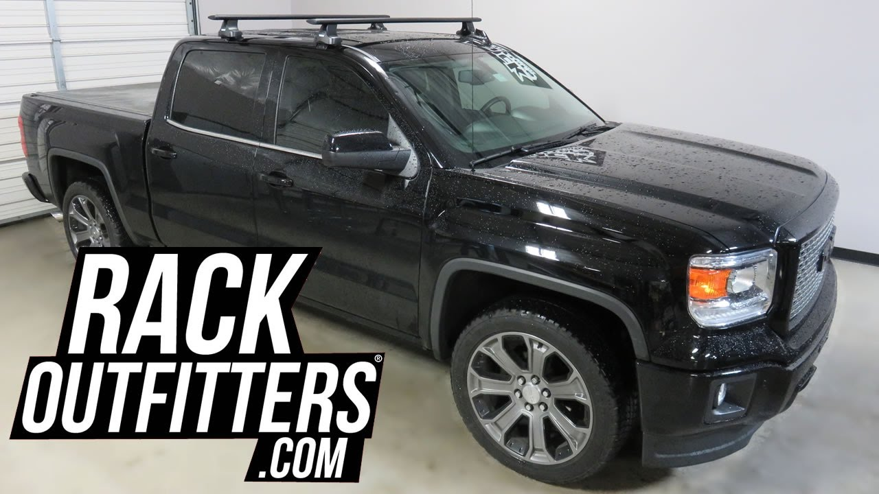 Gmc Sierra Roof Rack >> Gmc Sierra Crew Cab With Thule Rapid Traverse Aeroblade Roof Rack