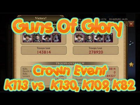 Guns Of Glory KVK K113 vs K82,K130,K109 1v3 Part 2