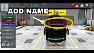 How to add name of ur bus  in bus simulator indonesia screenshot 4