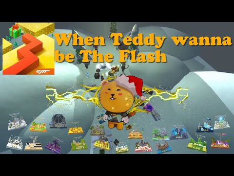 The Christmas Eve edition • Teddy/Mascot wanna be The Flash • All Stages • Dancing Line
