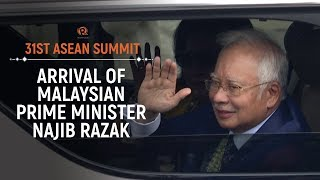 ASEAN 2017: Arrival of Malaysian Prime Minister Najib Razak