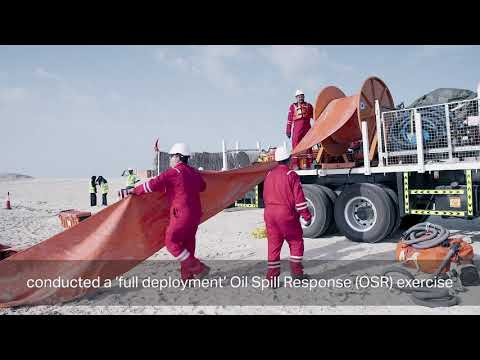 "Highlights from ADNOC's Oil Spill Response (OSR) exercise on ""Sir Bani Yas island"""