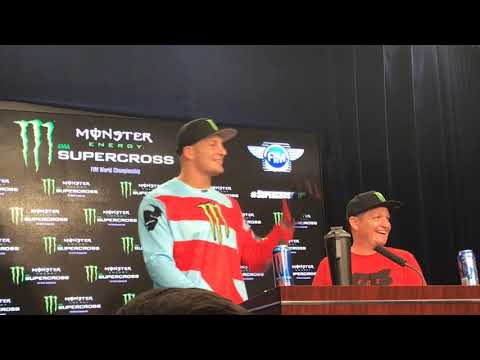 Rob Ninkovich Interviews Rob Gronkowski At Supercross Press