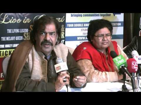 Press Conference of The Living Legend SHAUKAT ALI & SHAZIA MANZOOR