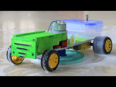 How to Make a Floor Cleaning Machine - Remote Controlled