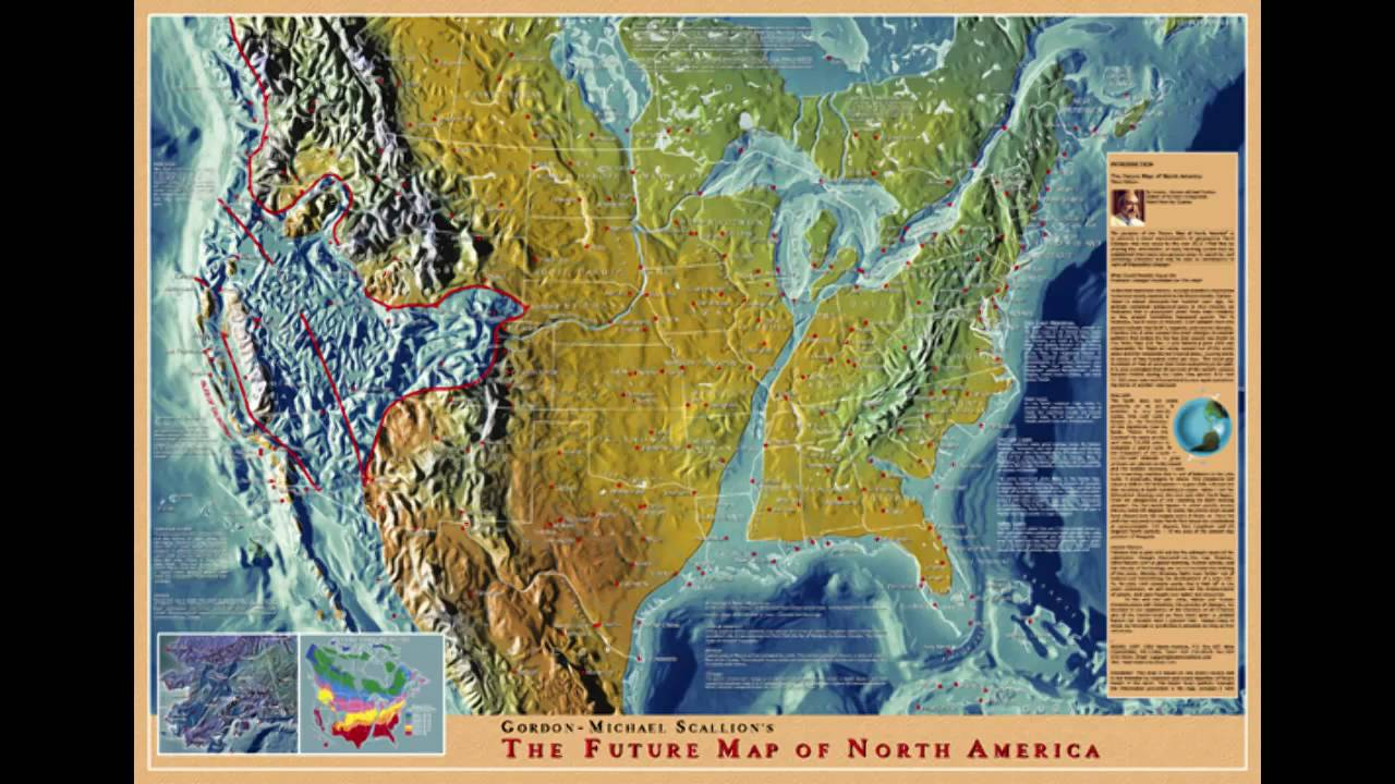 Future Map Of North America YouTube - After the earthquake new map of us