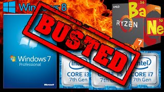 Microsoft Drops Windows 7/8.1 Support for AMD Ryzen & Intel Kaby Lake CPU & Lies About It - BUSTED!