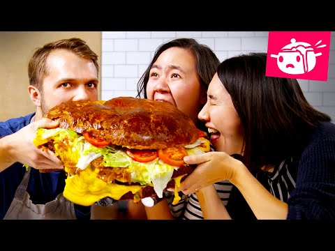 We Tried To Re-Create This Giant 30-Pound Burger Eating Your Feed Tasty