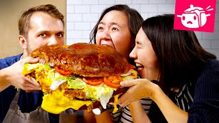 Download We Tried To Re-Create This Giant 30-Pound Burger • Eating Your Feed • Tasty Mp3 and Videos