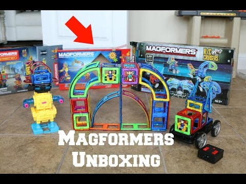 Magformers unboxing RC Cruisers 32 Block Sets Robot 62 Piece