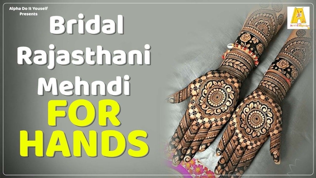 Henna Mehendi | Rajasthani Design | Simple Mehendi Designs - YouTube