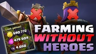 Clash of Clans | TH9 FARMING WITHOUT HEROES !!