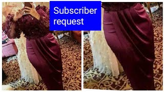 DRAPING SKIRT|| how t๐ cut and sew a drape skirt|| simple method