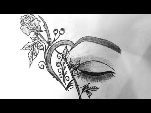 Cách Vẽ Tranh Nghệ Thuật Tình Yêu bằng bút chì – How to Draw Love Art with pencil