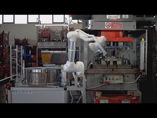 Asservimento pressa Cobot Doosan Robotics - Homberger Spa