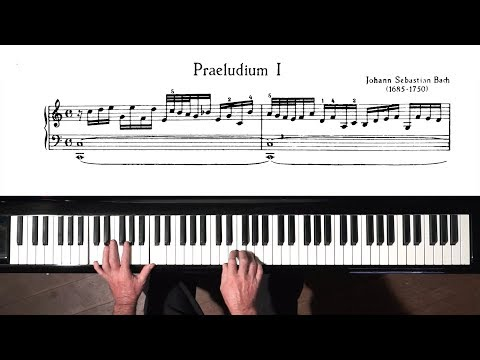Bach Prelude and Fugue No.1 Well Tempered Clavier, Book 2 with Harmonic Pedal