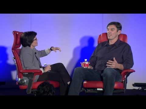 Kara Swisher and Tim Armstrong on stage at Code/Mobile