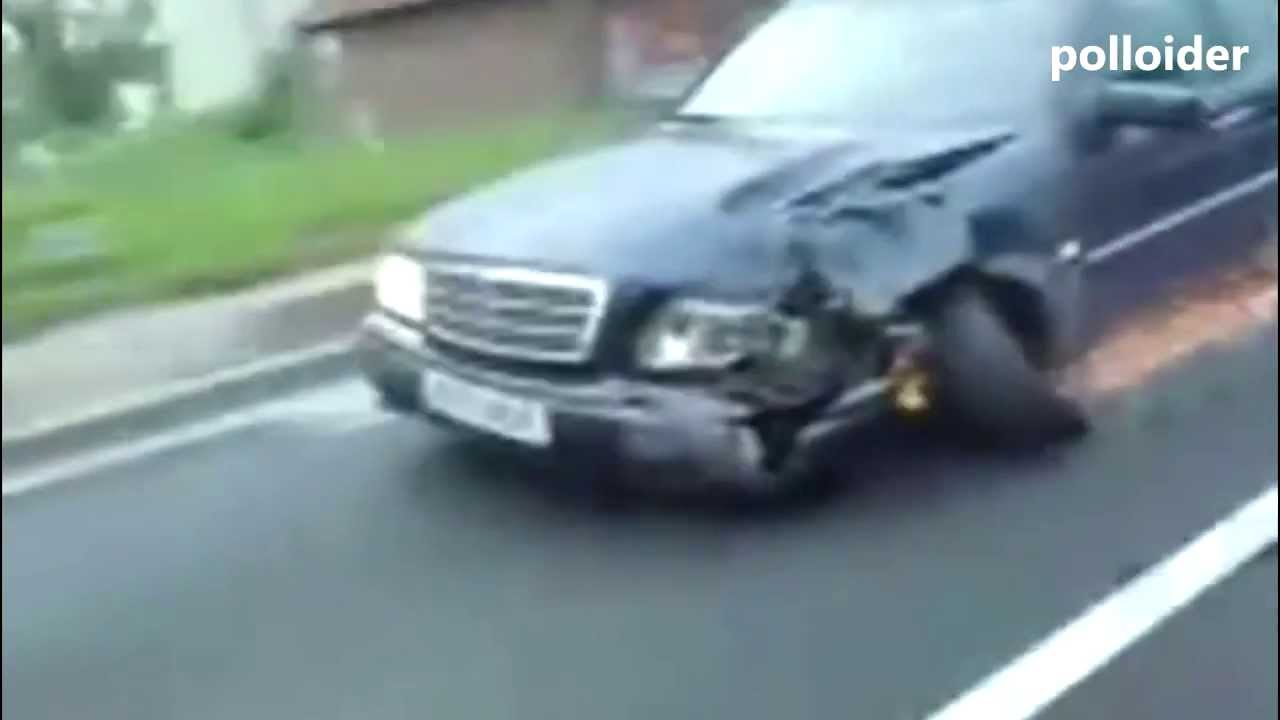 How to drive a heavily damaged car - I love Mercedes-Benz - Driving ...