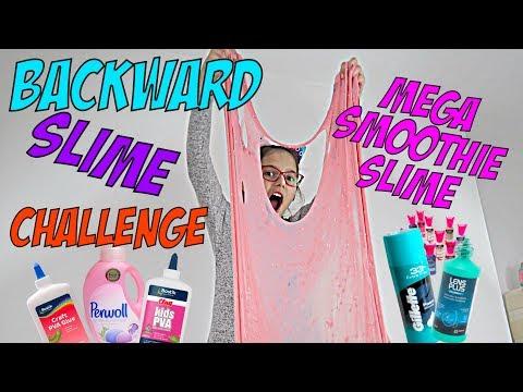 ♥ CHALLENGE - ROBIĘ SLIME/GLUTKI OD TYŁU - MEGA SMOOTHIE SLIME | Pusheen Girl