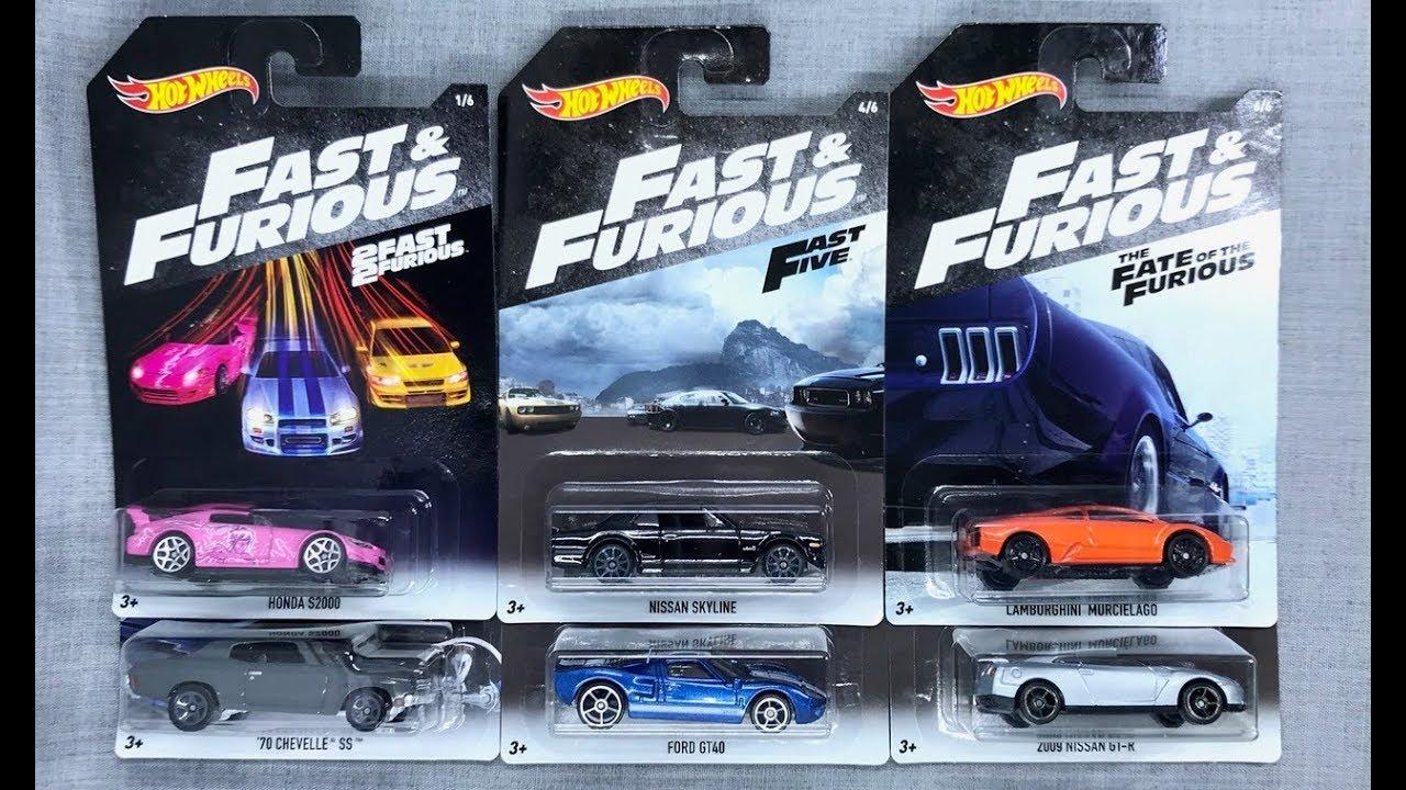Lamley Showcase Hot Wheels 2018 Fast Furious 6 Car Set Youtube