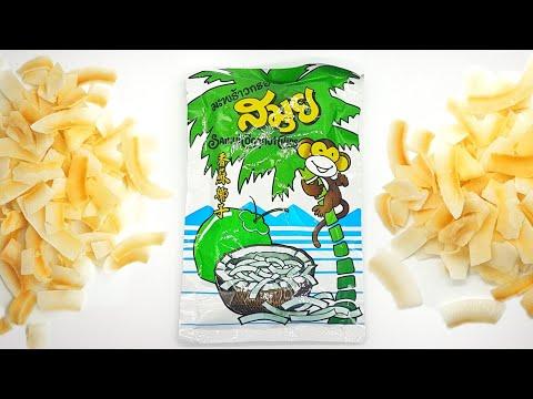 Coconut Chips Thailand Samui ASMR 4K UHD