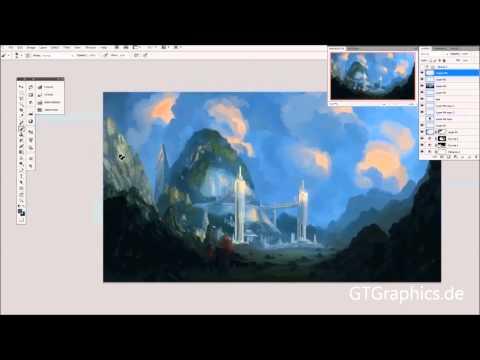 Silver Garden – Landscape Painting Process