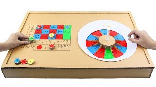 How to Make EASY Casino Roulette Game from Cardboard