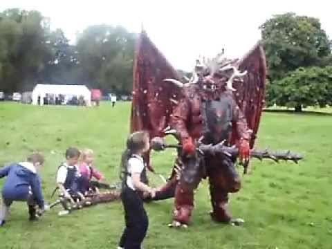 larp dragon dude attacked by kids at the gathering 09