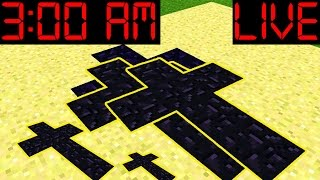 Do NOT PLay Minecraft Pocket Edition LIVE at 3:00 AM!!