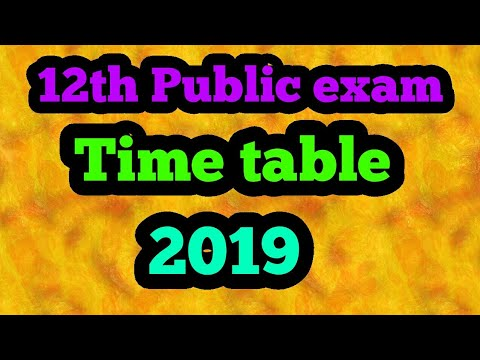 12th public exam time table 2019