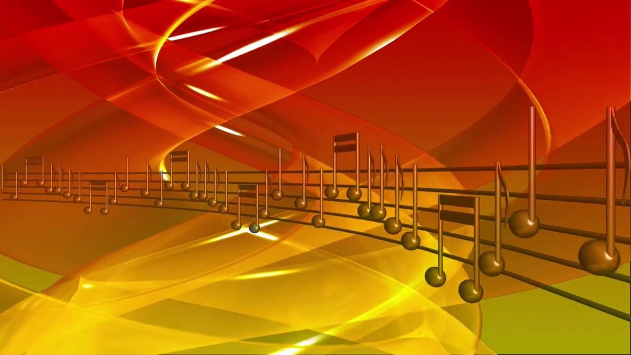Orange Music Notes Background Free Stock Video