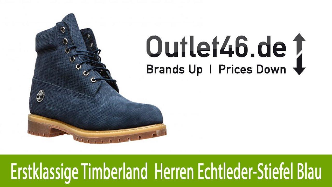 62f776749f9e Erstklassige Timberland Herren Echtleder Stiefel Premium 6 Inch günstig Blau    Outlet46.de