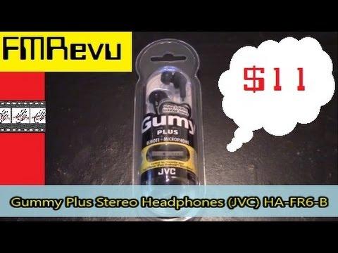 JVCHA-FR6-B Gummy Plus Stereo Headphones
